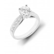 Diamond Engagement Ring Side Accent Ring