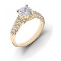 Diamond Engagement Side Accent Platinum Ring.