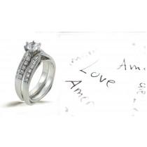 Platinum Hand Engraved Filigree Engagement Ring