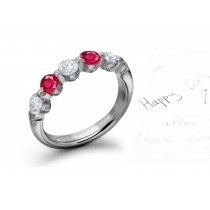 Truly Unique Ruby & Diamond Rings