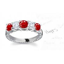 Designer Diamond Ruby Eternity Bands