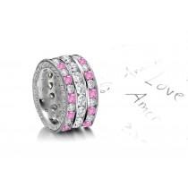 Sapphire & Diamond Eternity Diamond Ring
