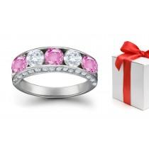 Beautiful Sapphire Diamond Five Stone Rings