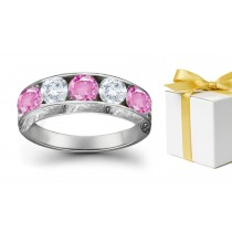Great Favorite Sapphire Diamond Five Stone Rings