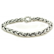 Platinum Wheat Chain and Bracelet. View Chains and Bracelets.