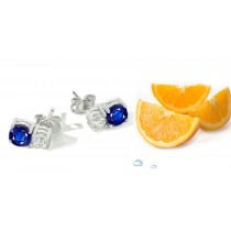 Sapphire Earrings: Platinum & Gold Sapphire Diamond Earrings Available in Platinum or Gold Settings.