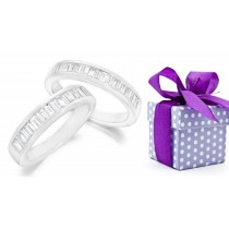 Platinum Channel Set Bagguette Diamond Ring