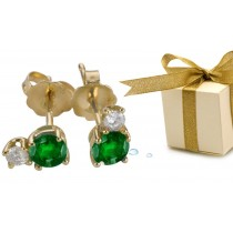 Emerald Earrings: Platinum & Gold Emerald Diamond Earrings Available in Platinum or Gold Settings.