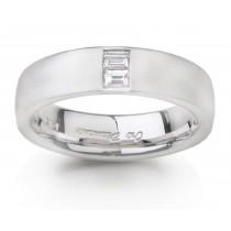 Platinum Bagguette Diamond Anniversary Rings