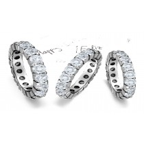 Classic Platinum Prong Set Round Diamond Eternity Ring in 1.0 5.0 cts tw Ring Size 3 to 8
