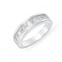 Platinum Bagguette and Princess Cut Diamond Rings